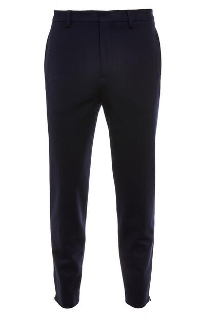 Pantalon bleu marine avec zips Premium