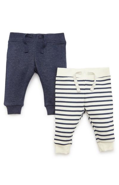 2-Pack Baby Girl Navy Joggers