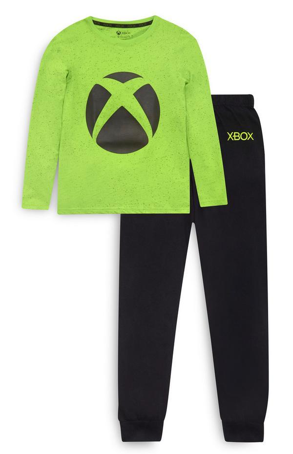Older Boy Green Xbox Pyjamas Set