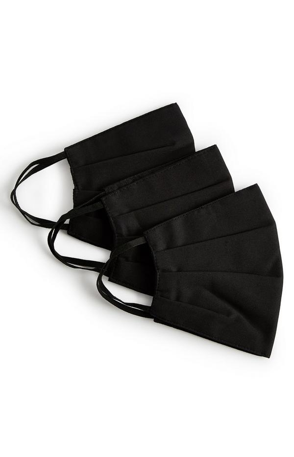 Pack de 3 mascarillas negras