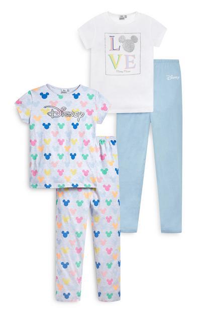 Pastelkleurige pyjama's Disney voor meisjes, set van 2