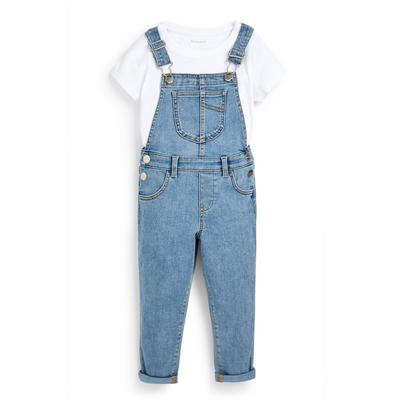 Ensemble salopette 2 en 1 en denim fille