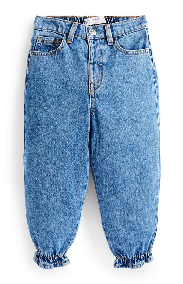 "Blaue ""Halo"" Jeans-Jogginghose (kleine Mädchen)"