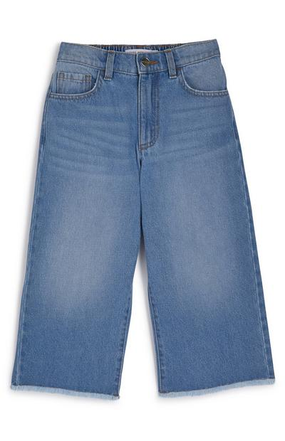 Younger Girl Blue Halo Denim Wide Leg Jeans