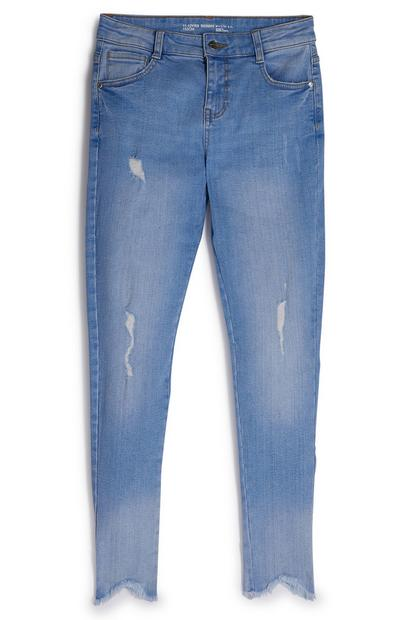 Blaue Jeans im Used-Look (Teeny Girls)