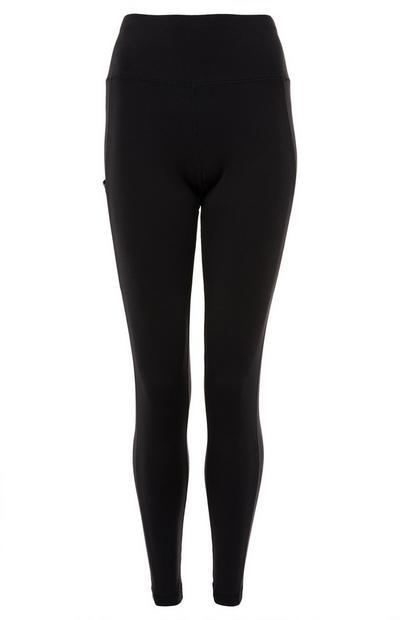 Schwarze, figurformende Leggings