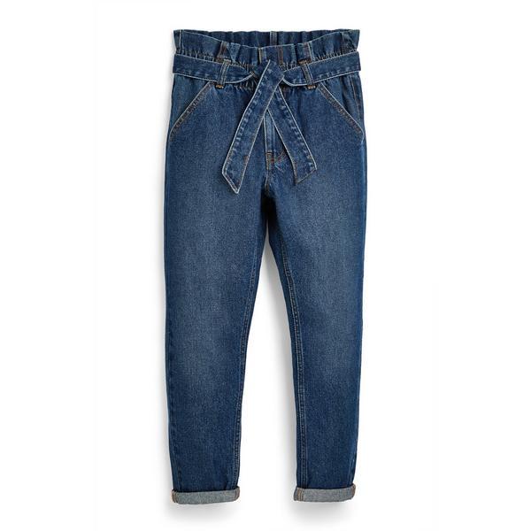 Blaue Paperbag-Jeans (Teeny Girls)