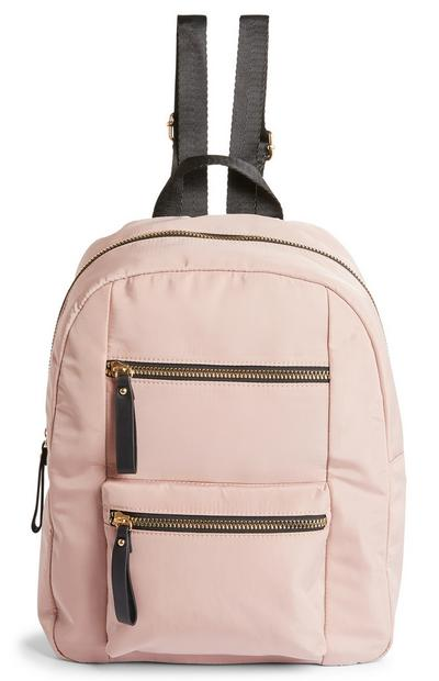 Pink Nylon Backpack