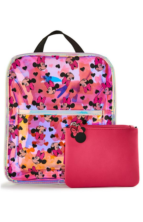 Disney Holographic Minnie Mouse Backpack And Purse Set