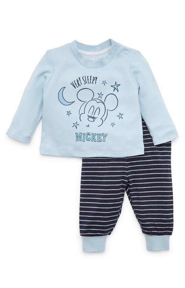 Baby Boy Disney Mickey Mouse Blue Pyjamas