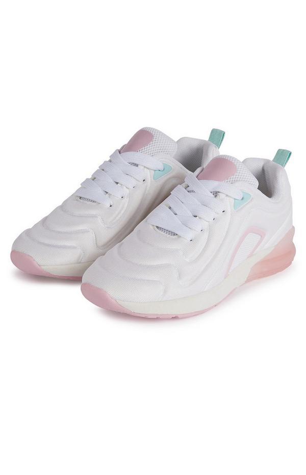 Weiße Sneaker mit Phylon-Sohle und Prägemuster (Teeny Girls)