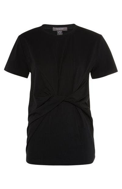Black Reconstructed Knot T-Shirt