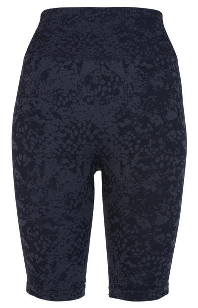 Black Jacquard Sports Cycle Shorts