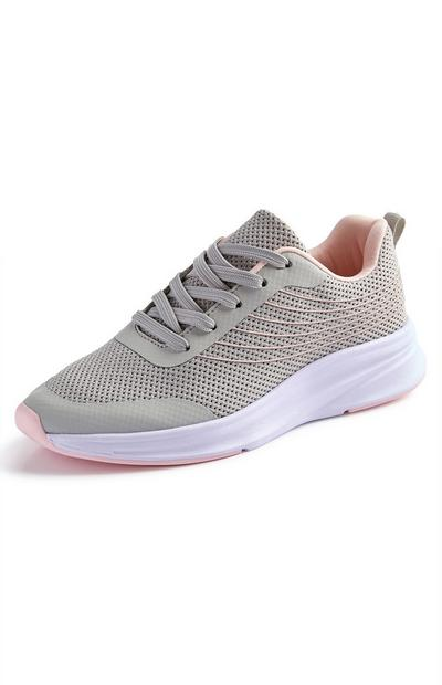 Grey And Pink Functional Trainers