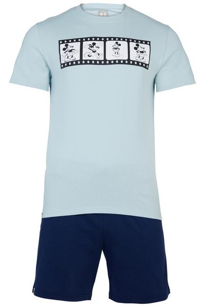 Pyjama avec short bleu et bleu marine Mickey Mouse Primark Cares Disney