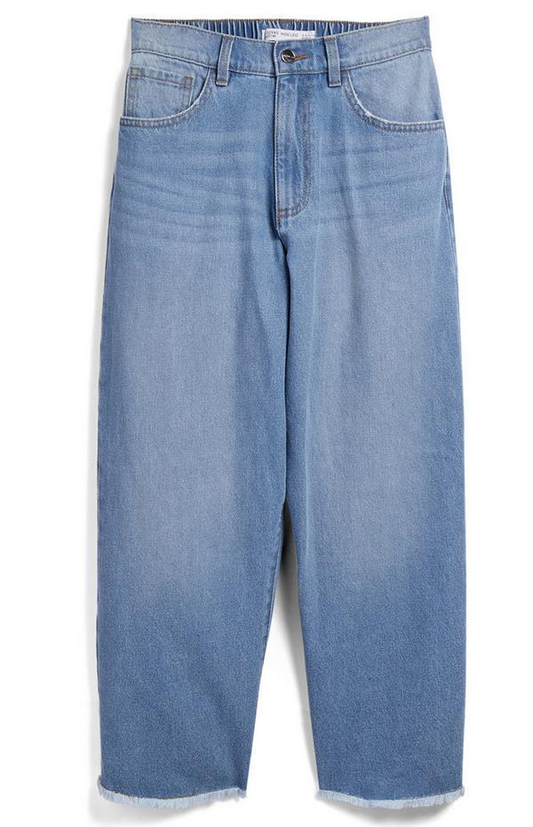 Jeans a gamba larga in denim da ragazza