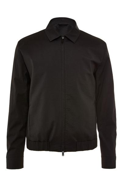 Black Premium Nylon Collar Jacket