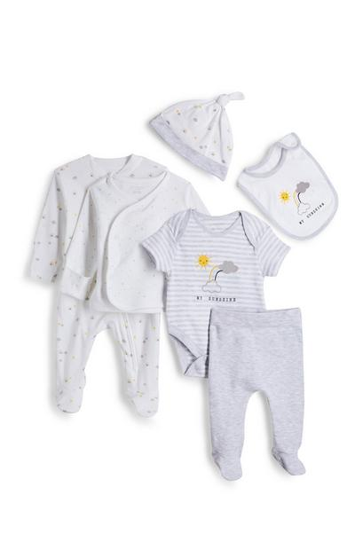 Newborn Baby White Organic 6 Piece Set