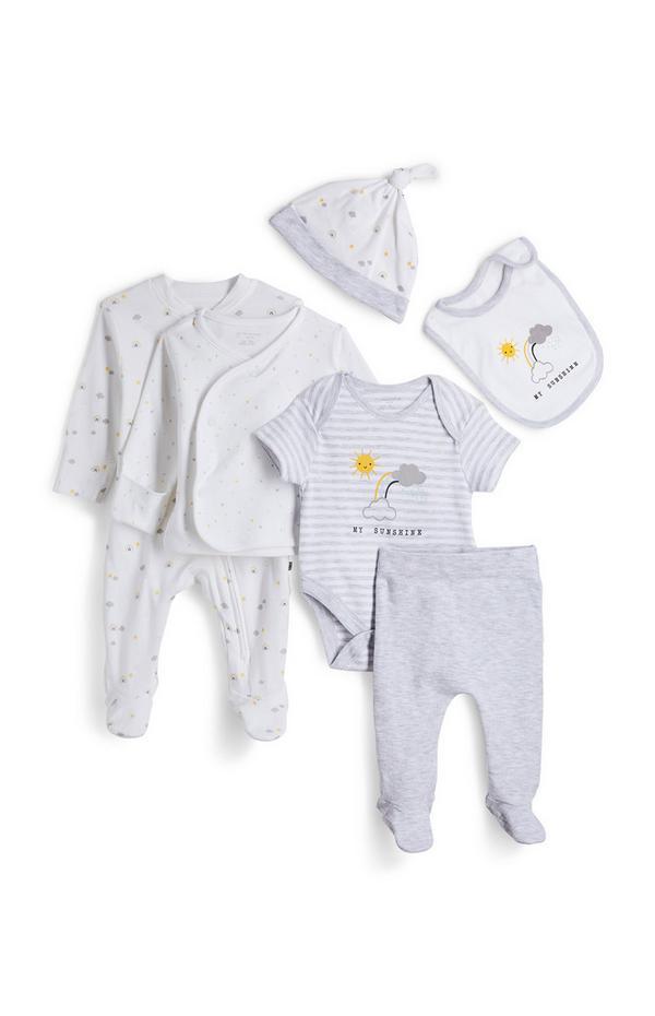 Newborn Baby White Set 7 Piece