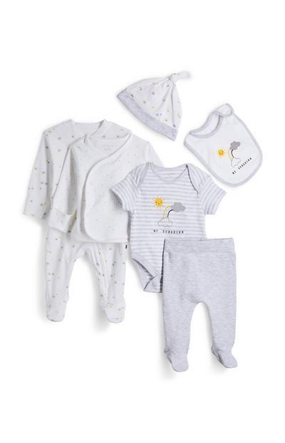 Newborn Baby White Organic Set 7 Piece