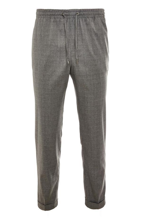 Premium grijze broek met trekkoord in taille