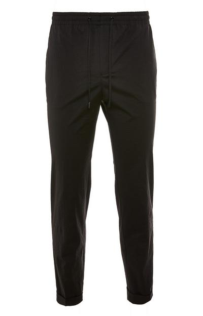 Premium Black Nylon Trousers
