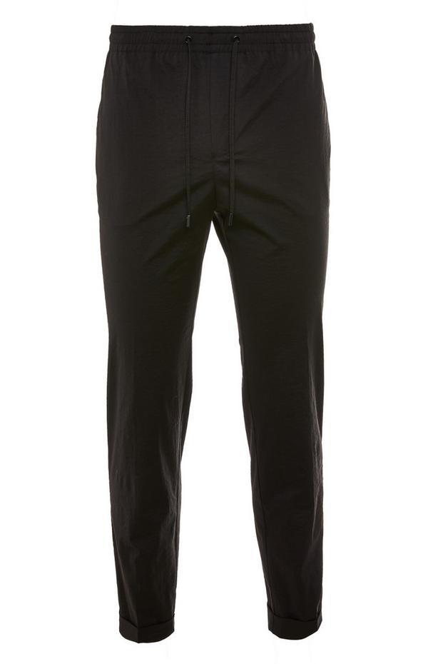 Premium Black Nylon Trousers
