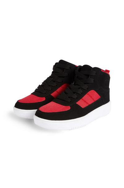Schwarz-rote High-Top-Sneaker (Teeny Boys)