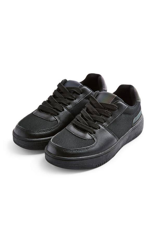 Schwarze Low-Top-Sneaker mit dicker Sohle (Teeny Boys)