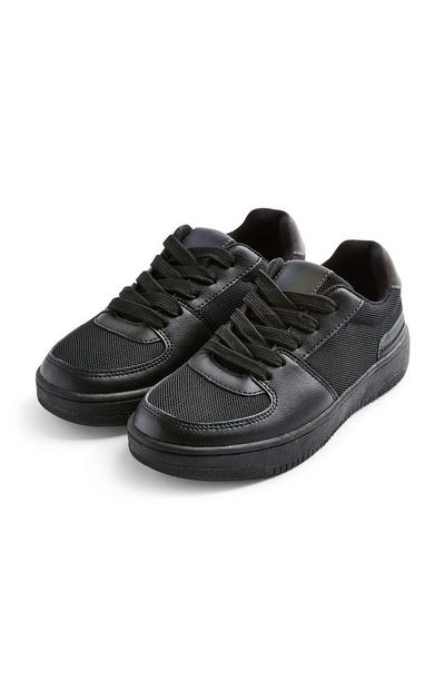 Older Boy Black Chunky Low Top Trainers