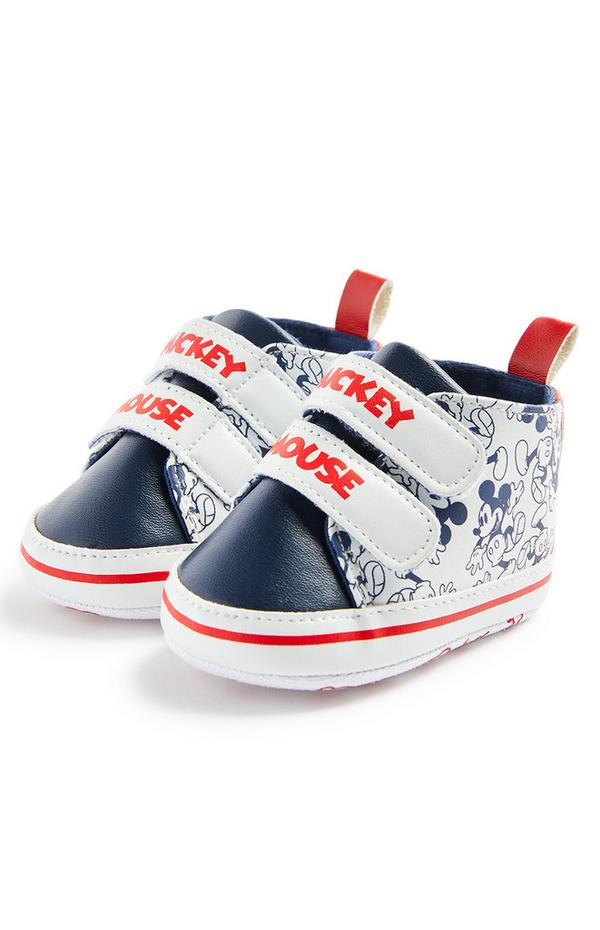 Baby Boy Disney Mickey Mouse High Top Trainers