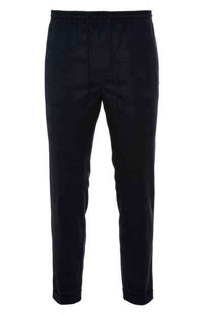Premium Black Tonal Check Trousers