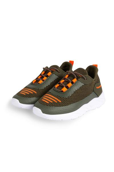 Younger Boy Khaki Phylon Trainers
