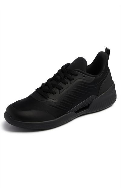 Black Sustainable Sports Trainers