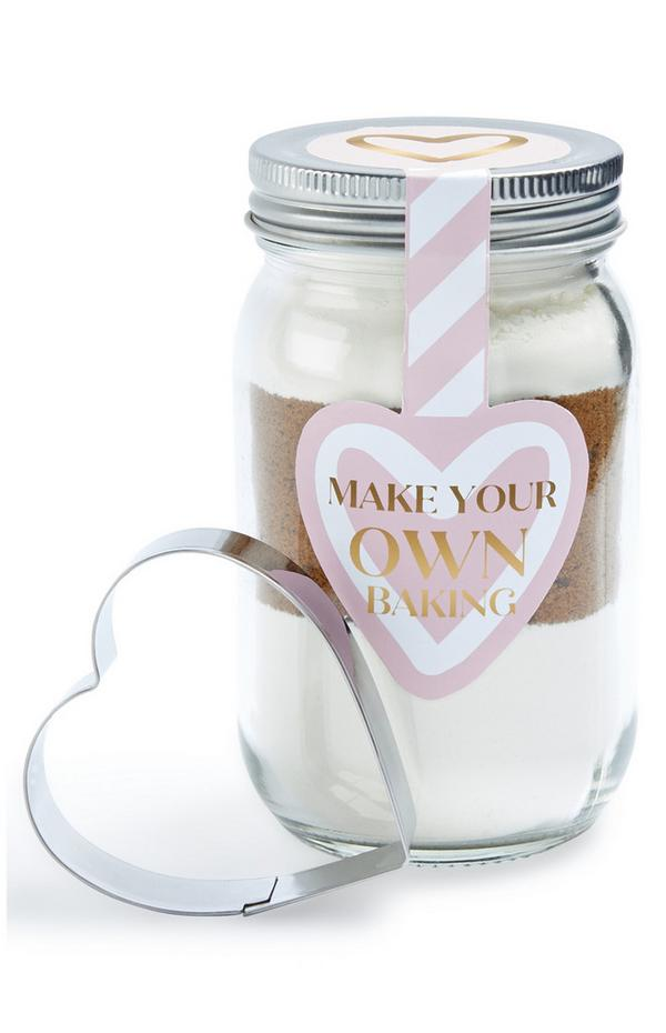 Heart Cutter Baking Kit In Jar