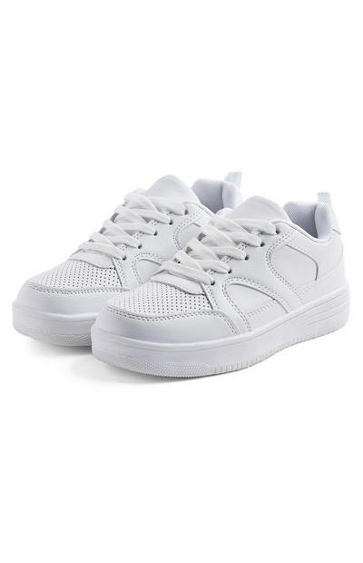 Older Boy White Chunky Trainers