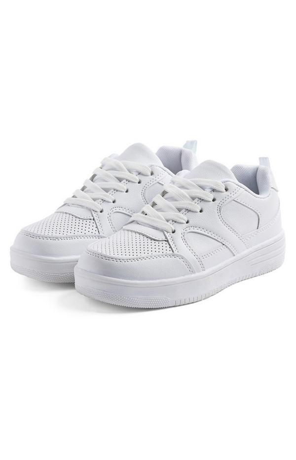 Older Boy White Chunky Sneakers