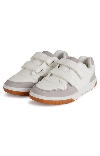 Younger Boy White Low Top Trainers