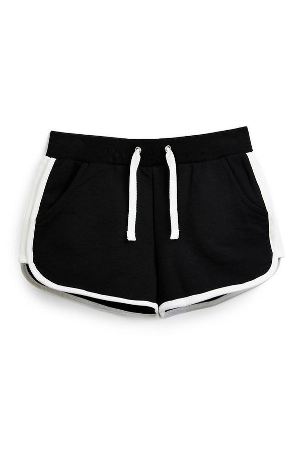 Schwarze Lauf-Shorts (Teeny Girls)