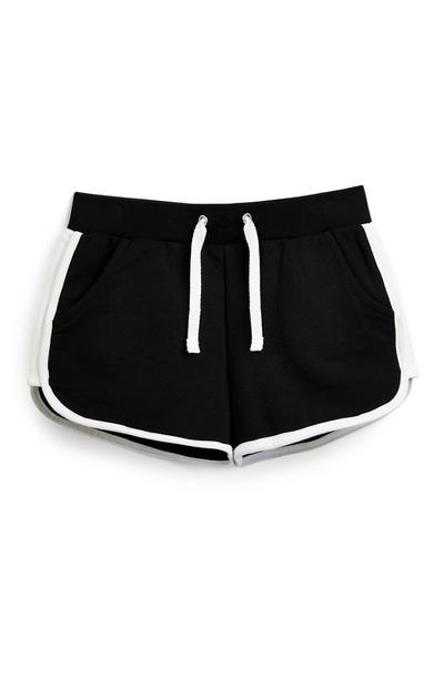 Schwarze Lauf-Shorts (Teeny Girls)