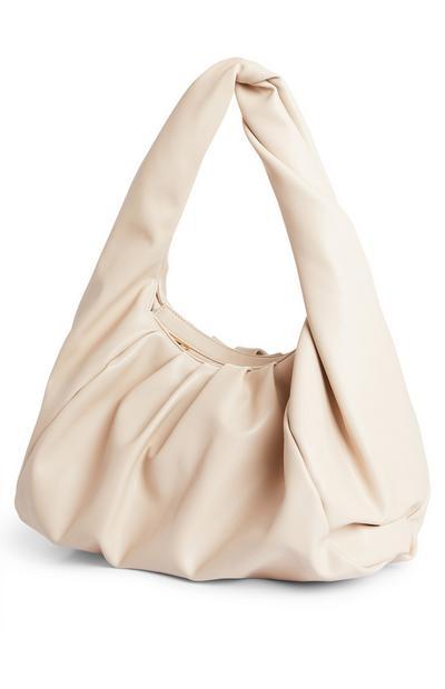 Cream Oversized Shoulder Bag