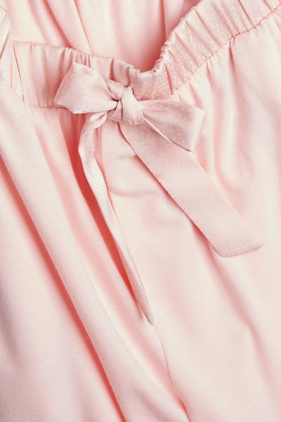 Roze joggingbroek met enkelboorden