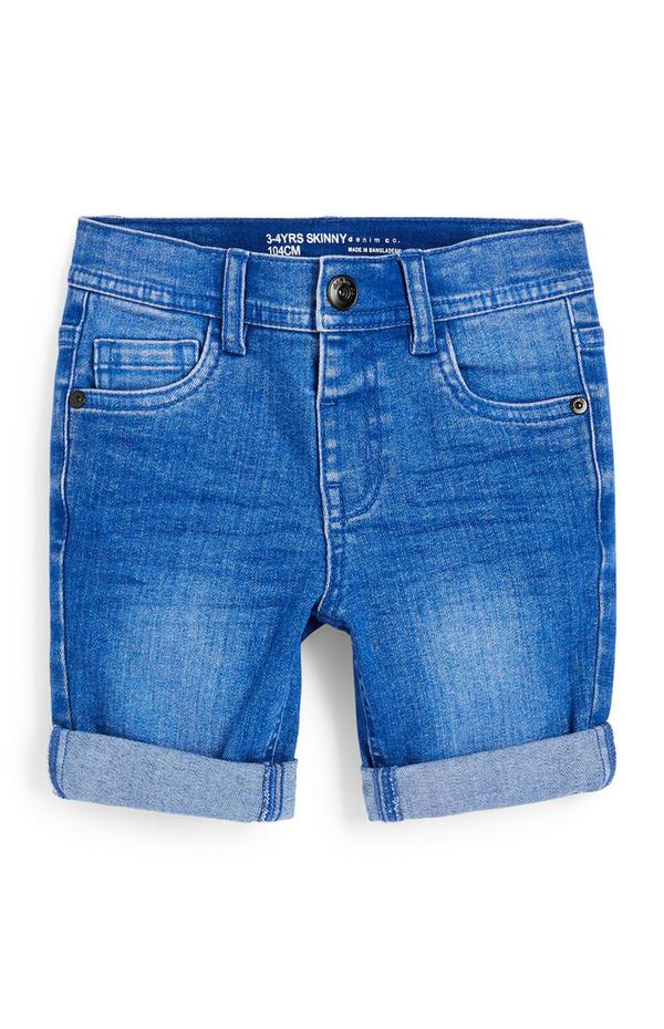 Younger Boy Blue Denim Skinny Shorts