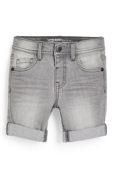 Korte grijze skinny spijkerbroek voor jongens