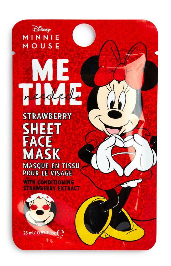 Máscara de tecido morango Minnie Mouse Disney