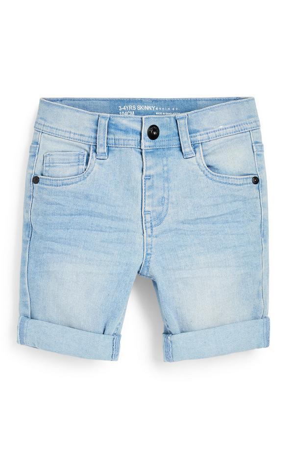Korte lichtblauwe skinny spijkerbroek voor jongens