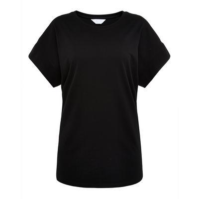 Zwart T-shirt met ronde hals