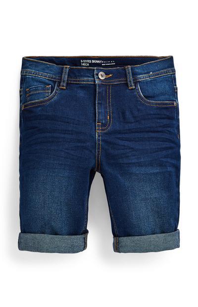 Blauwe skinny denim short voor jongens