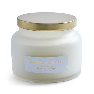 White Coral Cloud Tub Candle With Lid