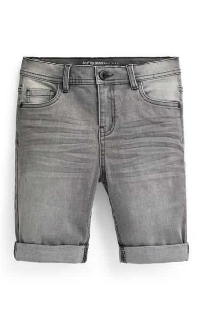 Graue Skinny Jeansshorts (kleine Jungen)